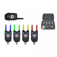 Набор электронных сигнализаторов поклевки с пейджером Hoxwell HL 84 (4+1)