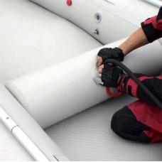 "Надувное сиденье в лодку ""цилиндр"" (72х27 см) (Олива)"