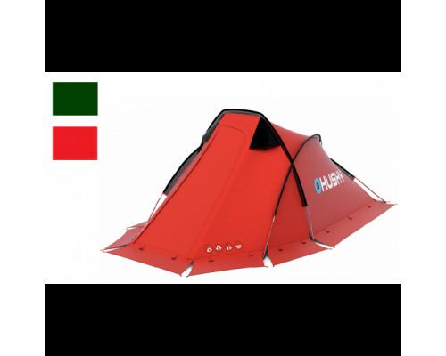 Палатка HUSKY FLAME  2, красный/темно-зеленый
