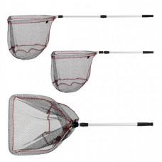 Подсачек Akara PF-2-1 50x55 см прямоугольный 2 колена резининовая сетка разборный 160см