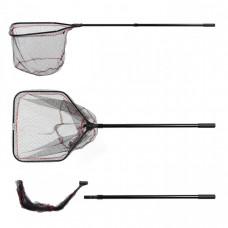 Подсачек Akara PF-8 60x60 см прямоугольный 2 колена складная голова резиновая сетка 245см
