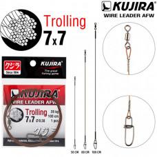 Поводок Kujira Trolling 7х7 AFW (1шт.)