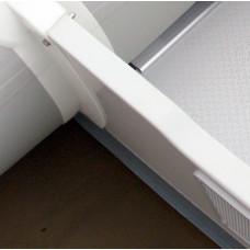 Профиль PVC на транец лодки - 18 мм (Серый)