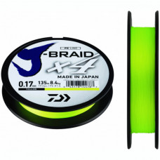 Шнур плетеный Daiwa J-Braid X4 Yellow 135м