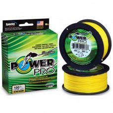 Шнур Power Pro Hi-Vis Yellow 275 м