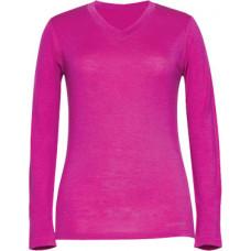 Женская кофта с вырезом W8544-670 (ярко-розовый) (XL)