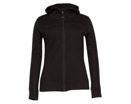 Женская кофта на молнии с капюшоном W8314-010 Black (S)