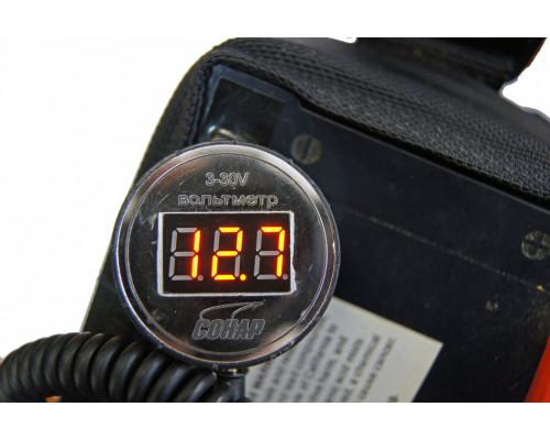 Вольтметр для аккумулятора водозащищенный 3-30 В