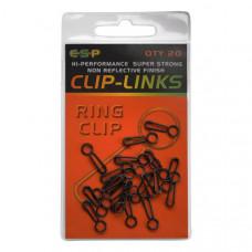 Застежки E-S-P НР Ring Clips - 20шт.
